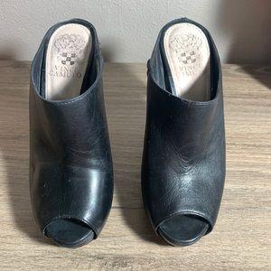 Vince Camuto Black Mule Heels